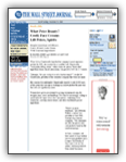 Newspapers and Magazines: The Wall Street Journal – What Price Beauty?