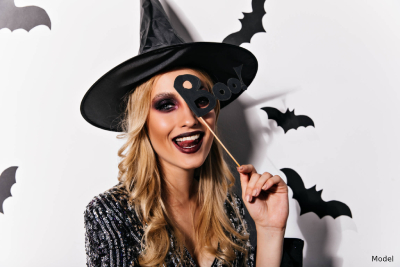 Using props with your costume can be more creative than using full faced makeup